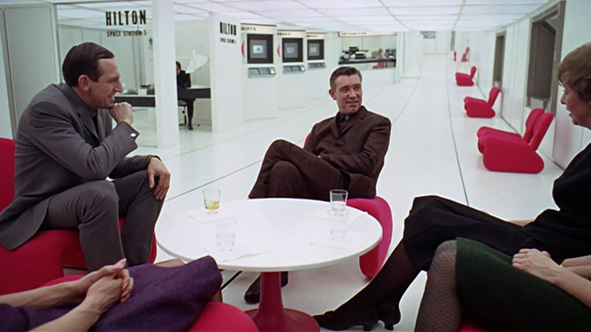 Tulip-style round low table as seen in 2001: A Space Odyssey