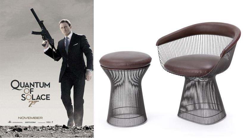 knollstudio platner chairs tables take an unusual star turn in