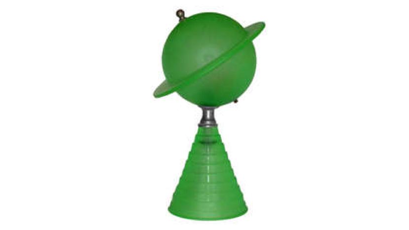Dazor Saucer Lamp, a World's Trade Fair lamp a Lightolier desk lamp.