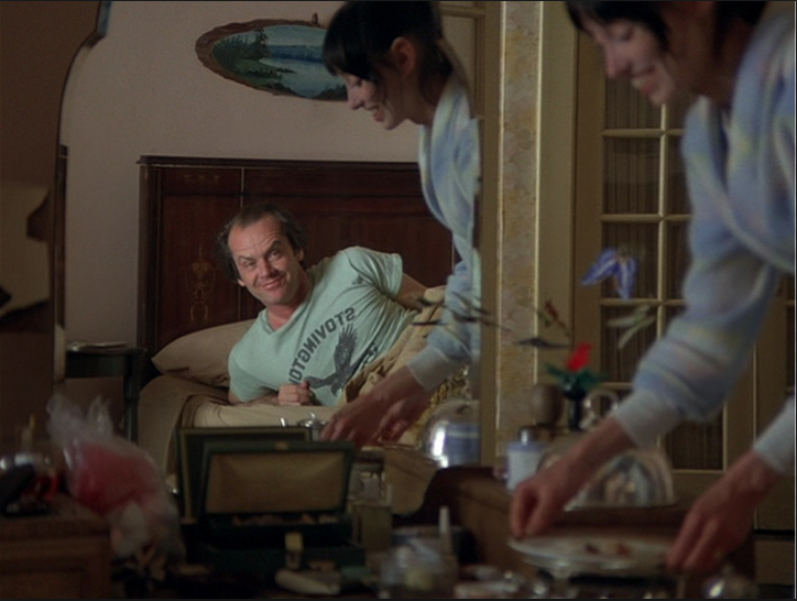 Jack Nicholson in the bed from The Shining