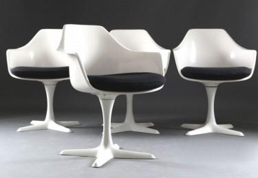 Burke Tulip Chairs Are Often Referred To As U0027Saarinen Styleu0027 Tulips
