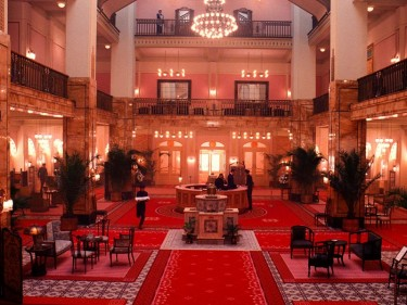 Grand Budapest hotel interior lobby