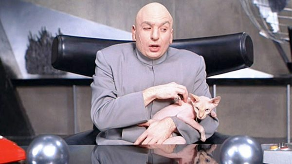 The scene would be nowt with the chair taken out: Ox Chair in Austin Powers