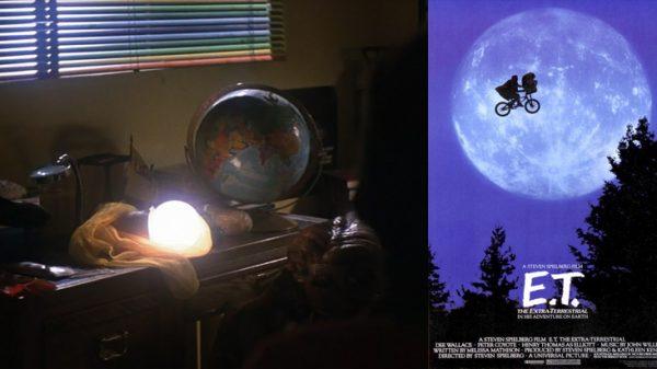 Elliot's rainbow window blind in Spielberg's ET, The Extra Terrestrial