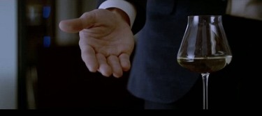 Baccarat wine glasses in Christian Grey's apartment