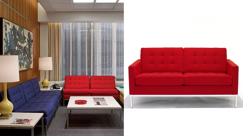 Florence Knoll Sofa In Mad Men Reception