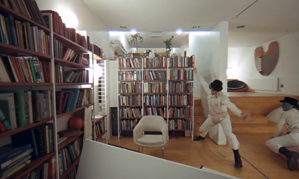 "Saarinen chair seen at the writers desk in ""home"" in a Clockwork Orange. Image c/o http://idyllopuspress.com"