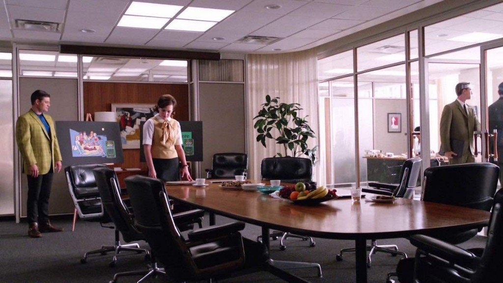 Eames Executive chair/Lobby chair in Mad Men meeting room