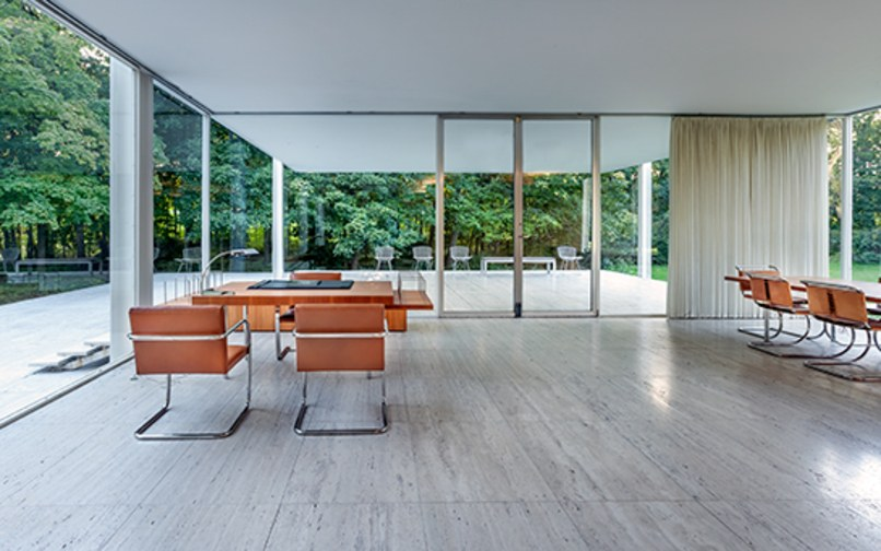 Another view of the Farnsworth House interior