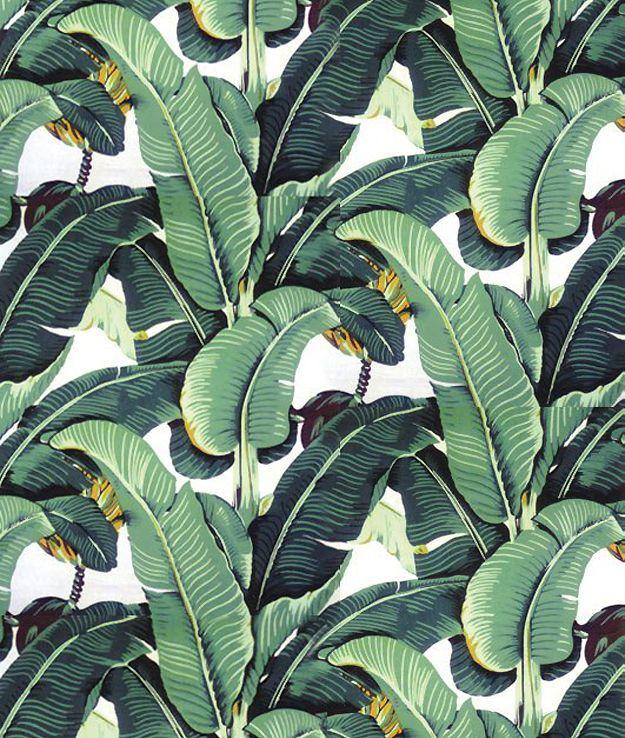 Martinique banana leaf wallpaper