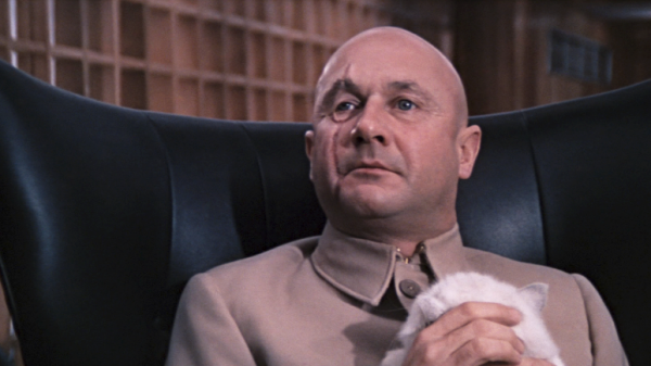 The scene would be nowt with the chair taken out: You Only Live Twice, Blofeld's chair
