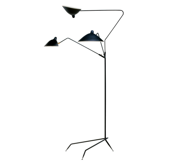 Standing Lamp with Three Arms by Serge Mouille