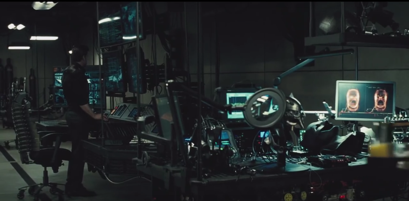 Batman's desk chair in Batman v Superman