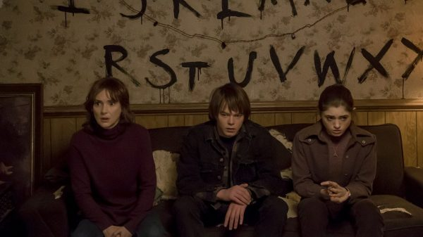 The Byers' Brown Sofa in Stranger Things