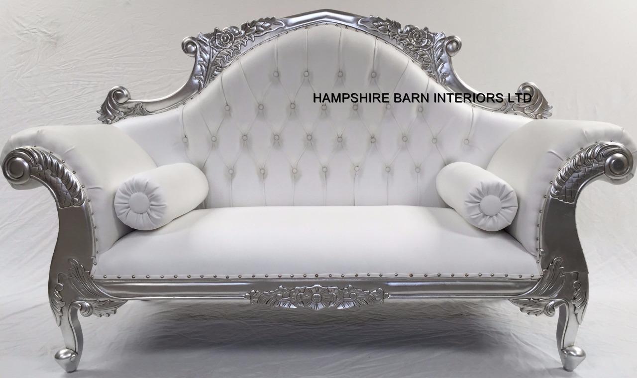 Silver Chaise Hampshire Barn Interiors Film And Furniture