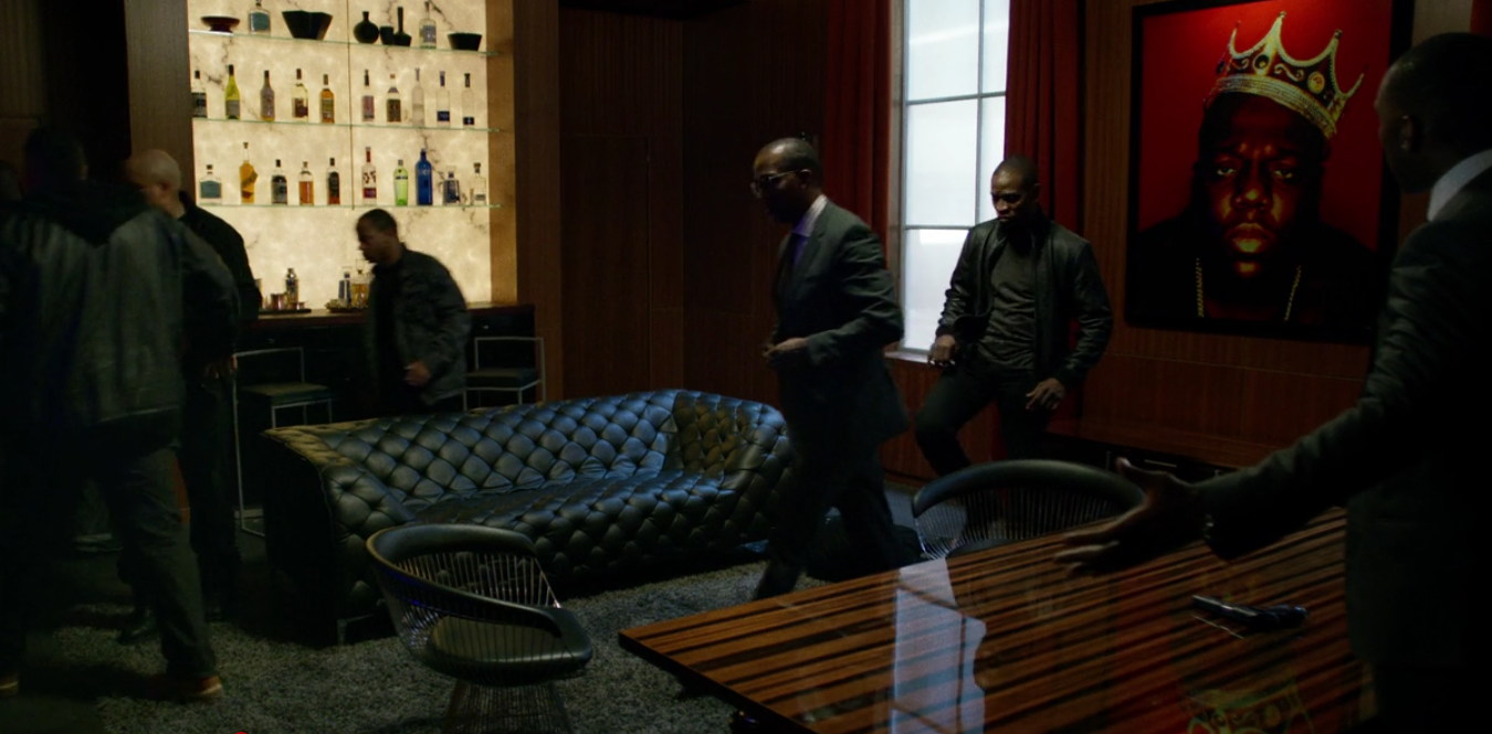 Providence neo-chesterfield sofa in Luke Cage