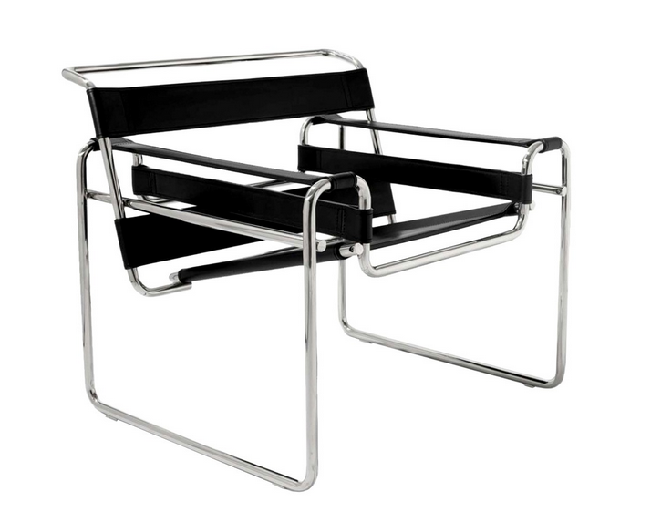 furniture design classics in the movies The Wassily lounge chair designed by Marcel Breuer. film and furniture
