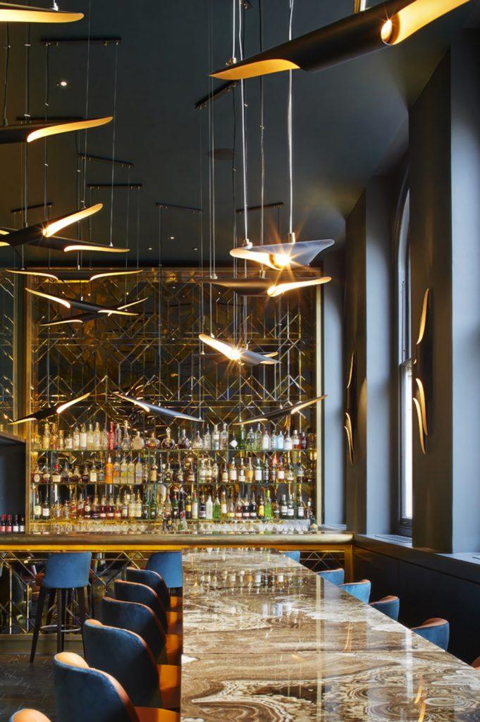 Coltrane lights in Christopher's bar and restaurant, London