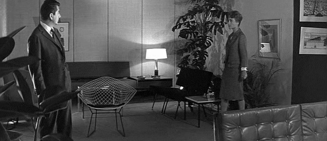 Diamond chair in la proie pour l 39 ombre 1961 for Model house movie