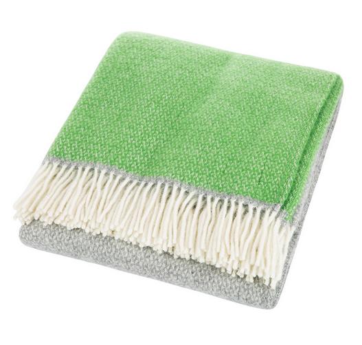 Snapdragon Wool Throw - Grey/Green-pastels-in-film-sets