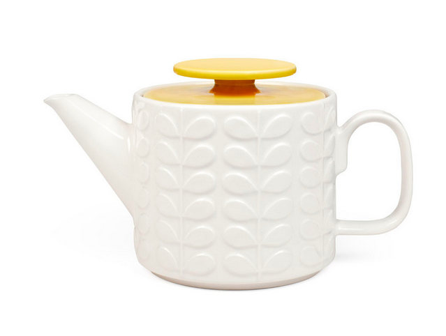 The Orla Kiely Raised Stem Tea Set is available from Amara.
