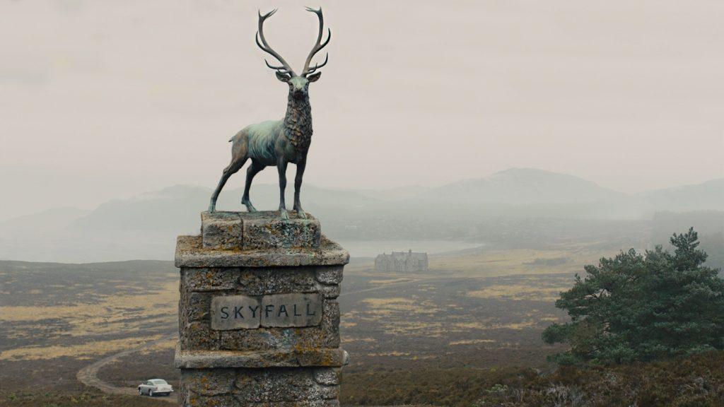 The entrance to the James Bond's Scottish Estate Skyfall