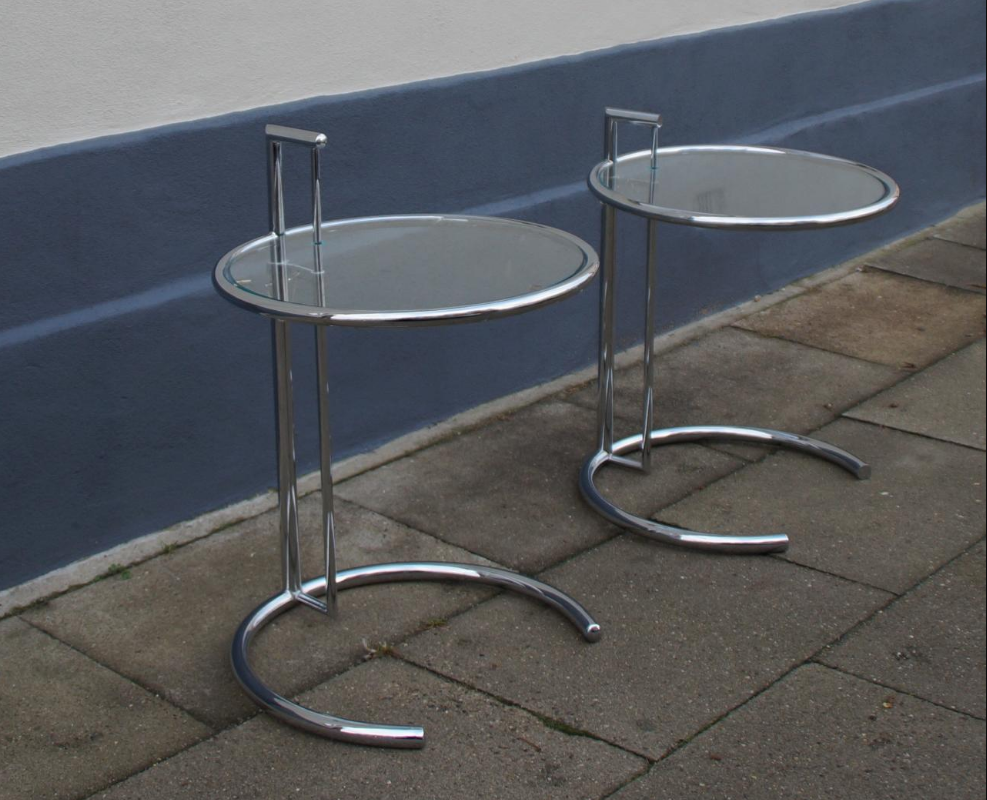 Eileen Gray Style Side Table Vintage Original Film And
