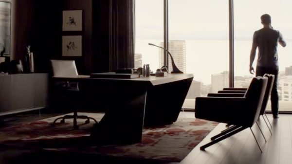 Christian Grey's commanding desk in Fifty Shades Darker