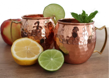 Hammered copper mugs are perfect for cocktails