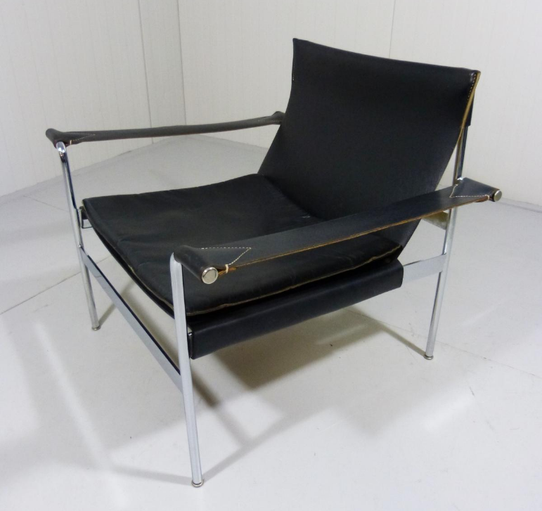 Black Leather Lounge Chair by Hans Könecke for Tecta, 1965