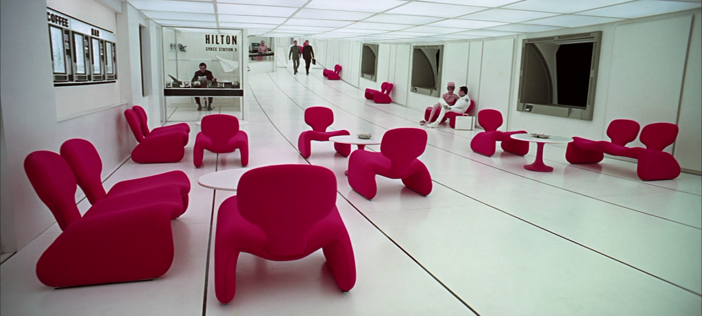 2001 a space odyssey space station lobby djinn chairs