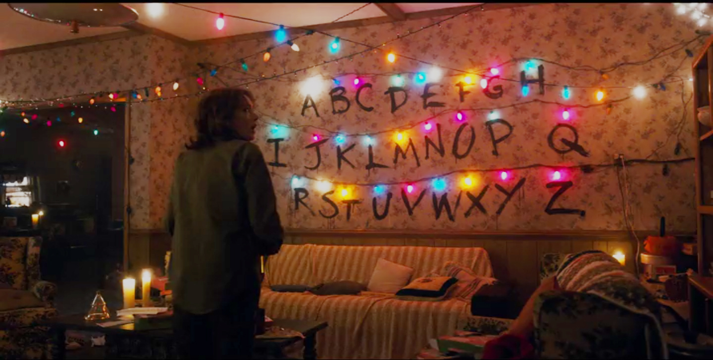 stranger things film and furniture - Stranger Things Christmas Decorations