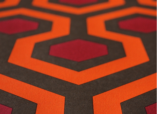 the shining overlook hotel hexagon carpet
