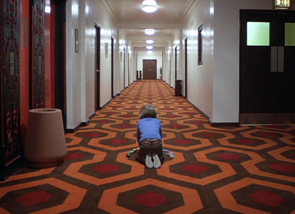 The Shining Overlook Hotel hexagon carpet: Hicks' Hexagon officially licensed