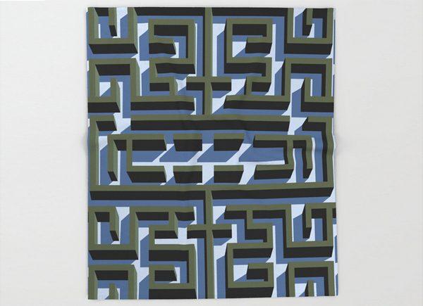 the-shining-maze-throw-blanket