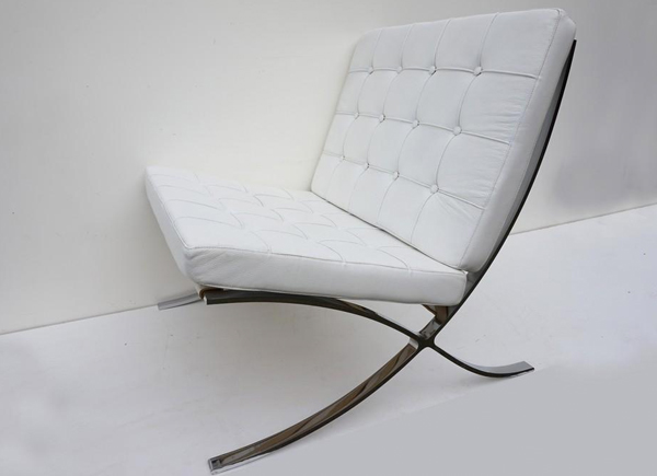white-barcelona-chair-vintage