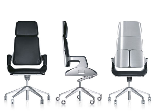 The Interstuhl Silver high backed chair