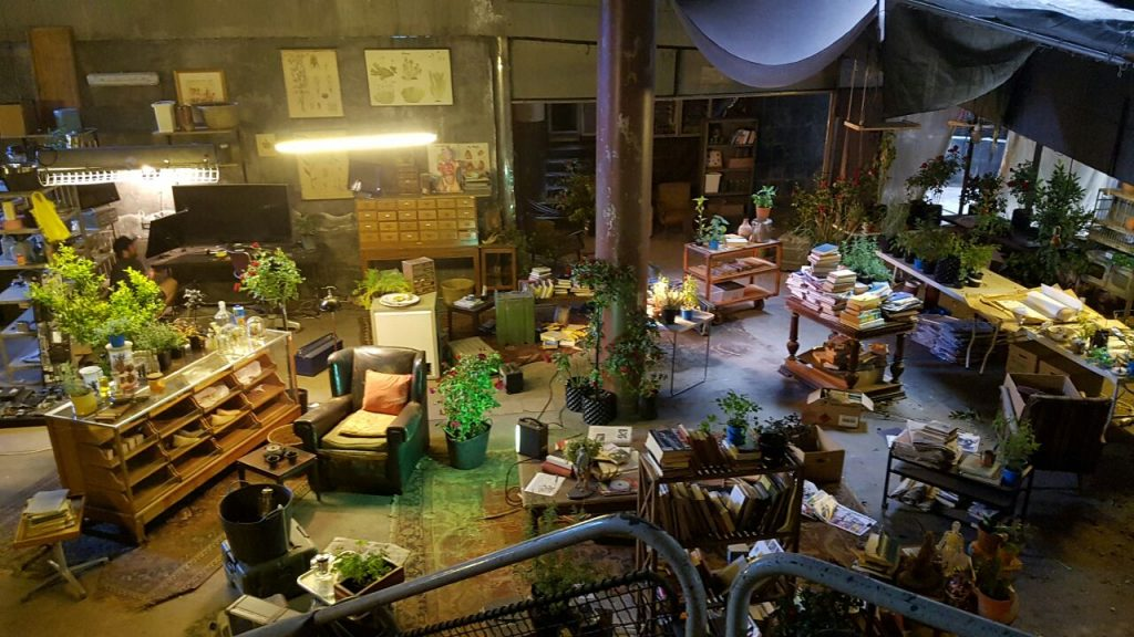 Lawrence's lair in Maze Runner The Death Cure. Photo copyright Anneke Botha under license to Film and Furniture