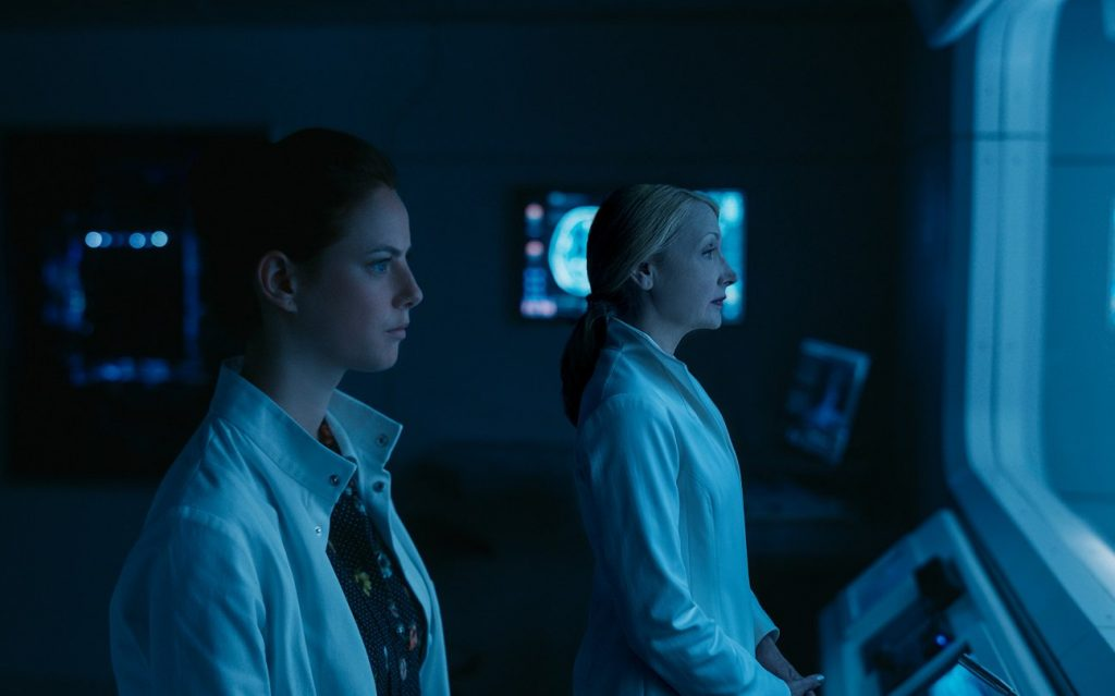 "Kaya Scodelario and Patricia Clarkson in the Lab at WCKD in Maze Runner"" The Death Cure"
