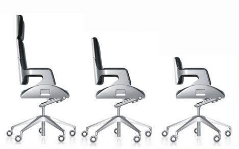 Interstuhl Silver Chair different height back options