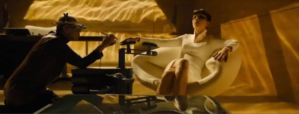 Pierre Paulin ribbon chair in Blade Runner 2049