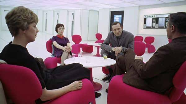 Seeing red or tickled pink? The colour of the Djinn chairs in 2001: A Space Odyssey