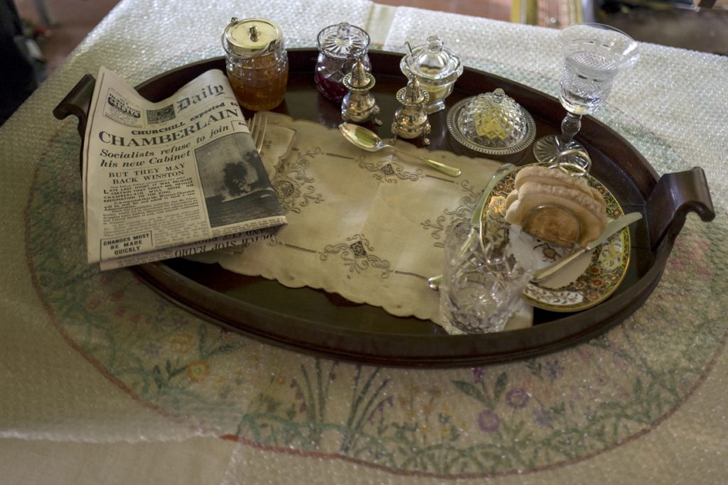 Churchill's breakfast tray in Darkest Hour