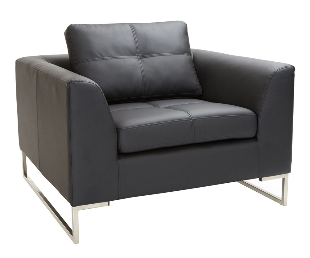 Vienna leather armchair black, £499 from dwell