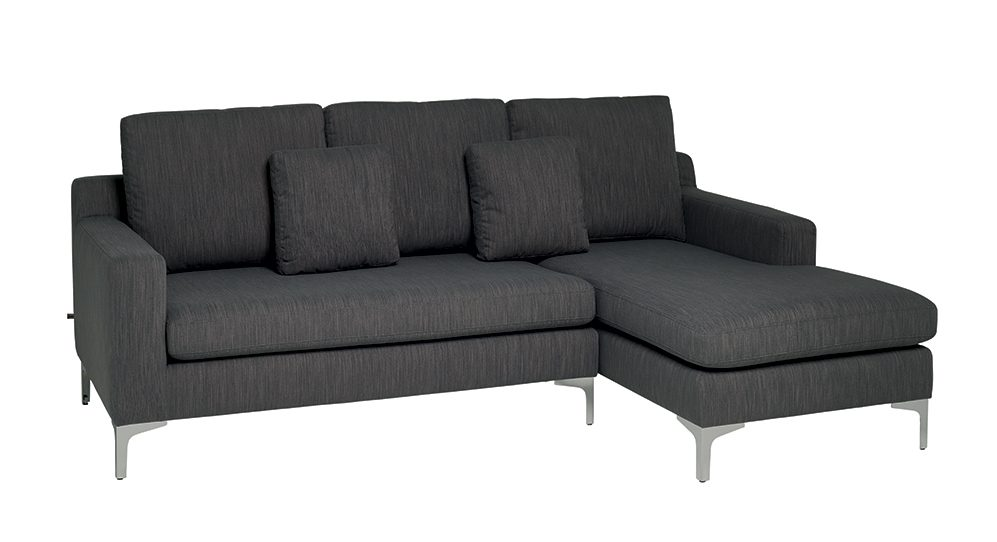 Oslo right hand corner sofa graphite fabric, £1199, dwell