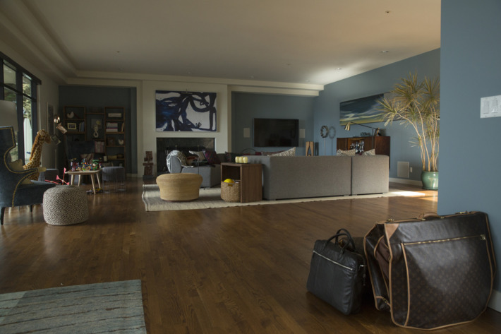 Celeste and Perry's living room in Big Little Lies