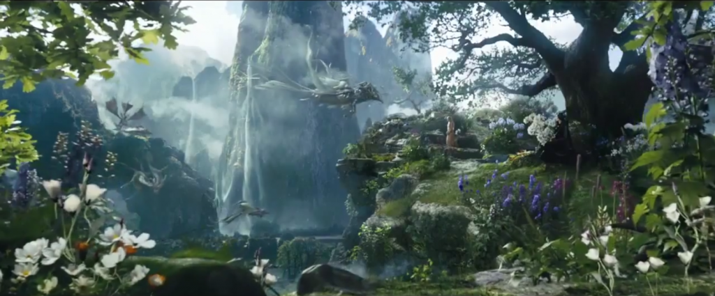 The enchanted forest in Maleficent