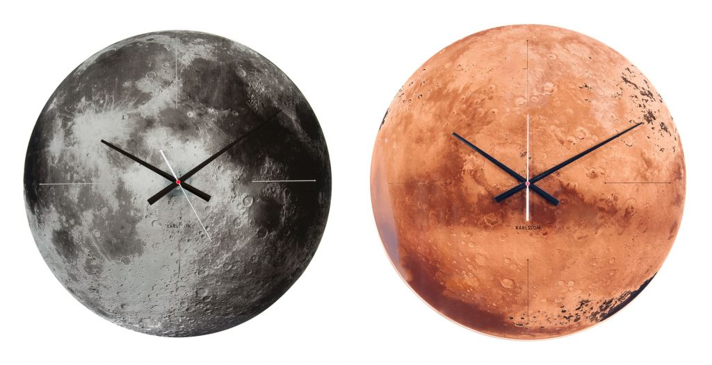 Moon clock and Mars clock, £129 each from dwell