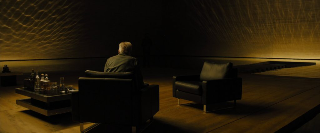 The Arnolfo di Cambio glasses can be seen in this scene where Deckard is taken to meet Niander Wallace in the Wallace Corporation building