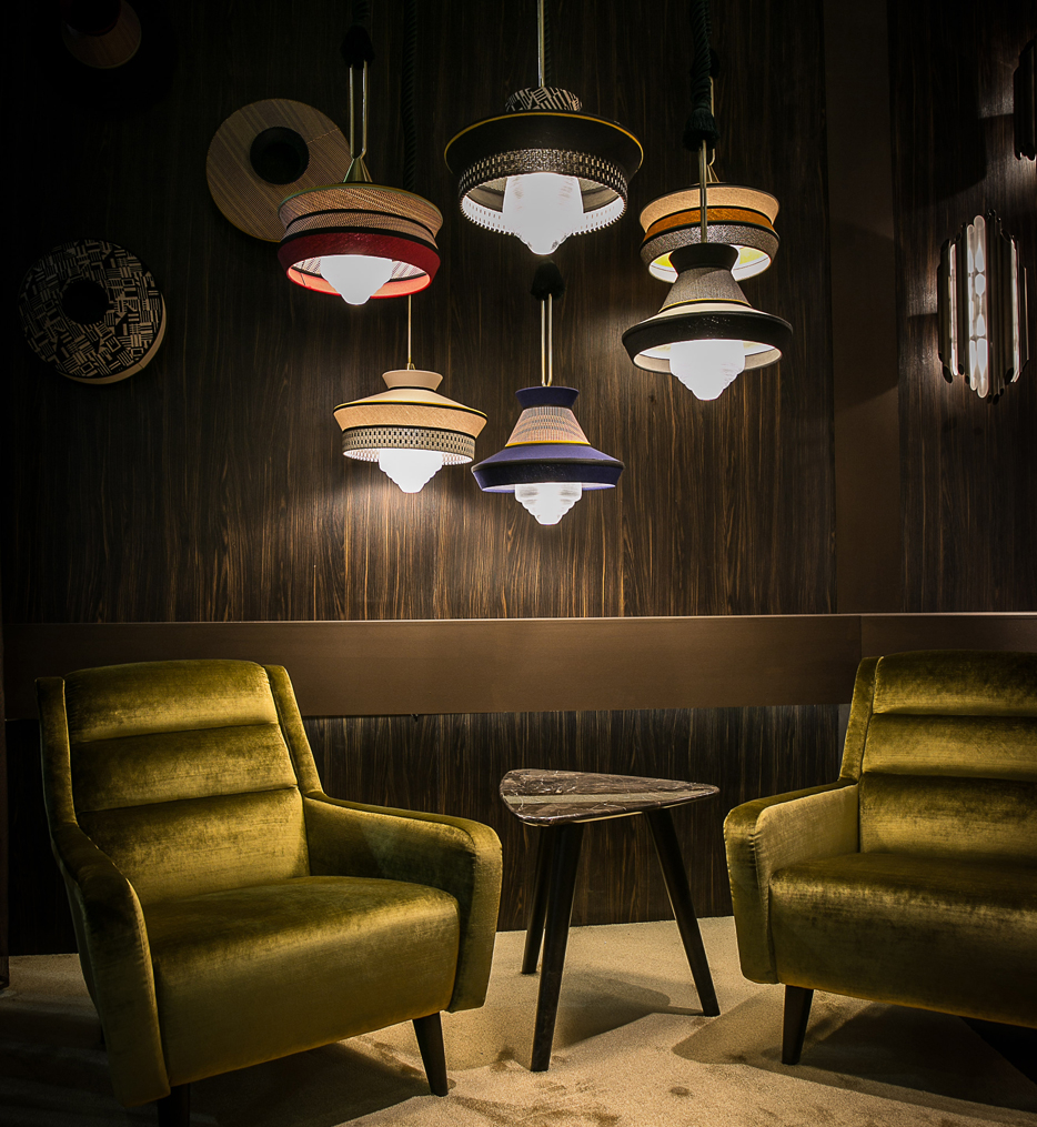 Calypso pendant light collection available from Lumen.com
